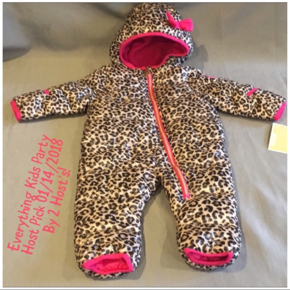 350f1a840 Michael Kors Jackets & Coats | Nwt Pink And Leopard Snow Suit | Poshmark